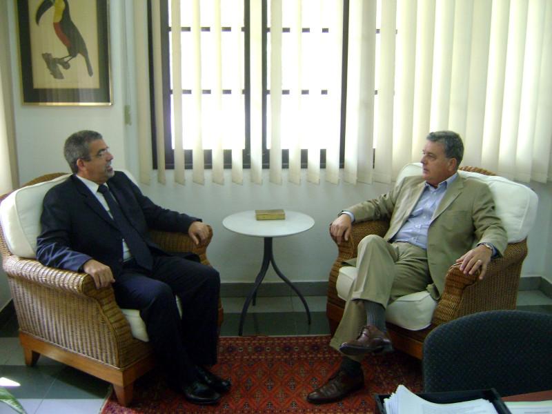 Visita ao Sr Embaixador do Brasil em Timor Leste