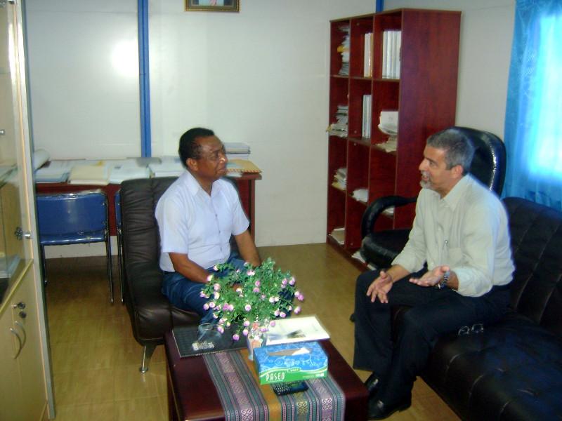 Visita ao Vice-Reitor da Universidade Nacional do Timor Leste